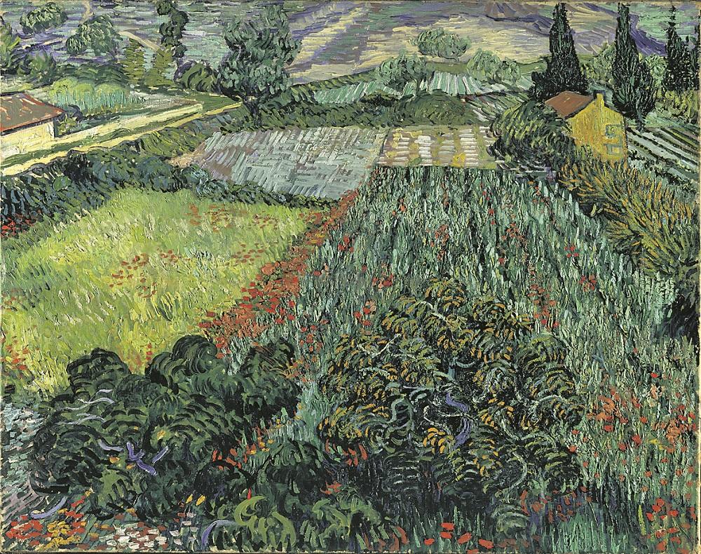 """Die neue LED-Technik in dem spanischen Museum bringt die Farben von van Goghs """"Mohnfeld"""" noch intensiver zur Geltung.Foto: Guggenheim Museum Bilbao"""