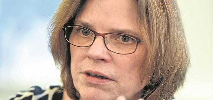 Die Wirtschaftsbehörde leitet Kristina Vogt seit August, zuvor war sie Fraktionsvorsitzende der Linken.Foto: Schlie