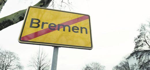 Wer den Osterfeuerberger Ring in Richtung Findorff befährt, verlässt Bremen – den Schildern nach. Foto: Schlie