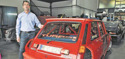 Rennauto mit Straßenzulassung: Oldtimer-Experte André Weißmann präsentiert den R5 Turbo im Auftrag eines Kunden auf der Bremen Classic Motorshow.Fotos: Schlie