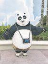 Der Kung Fu Panda posiert für das Foto.