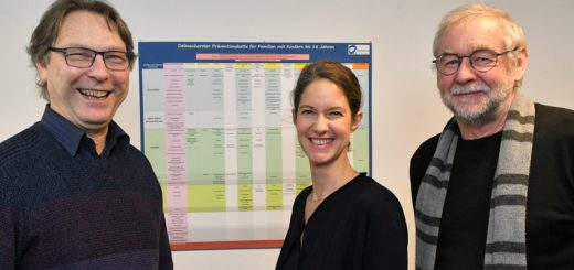 Erfreut über die Folgestudie: Rudolf Mattern, Dr. Antje Hebestreit und DR. Johann Böhmann.Foto: Konczak