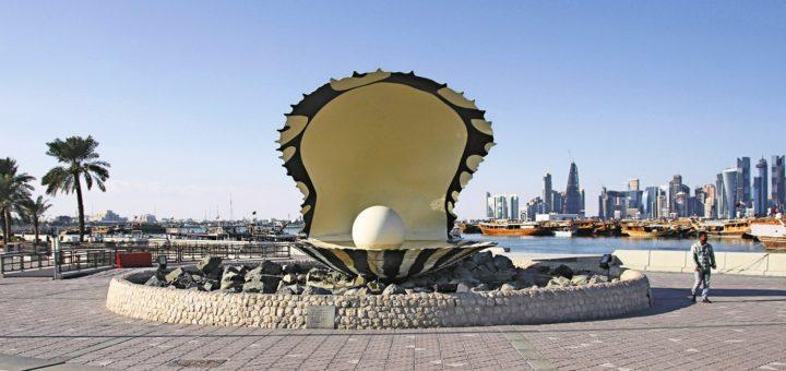 Der Perlenbrunnen an der Corniche von Doha. Fotos: Kaloglou