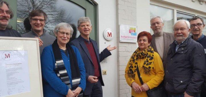 Das Gütesiegel ist angebracht - jetzt ist der Erfolg des Krankenhaus-Museums auch nach außen hin sichtbar. Foto: Kultur-Ambulanz