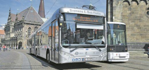 Vor vier Jahren hat Bremen erstmals Elektro-Busse getestet: das Modell S12 des Herstellers Sileo. Rund 220 E-Busse wollte der damalige Umweltsenator Joachim Lohse bis 2025 anschaffen. Doch daraus wurde nichts.Foto: Barth