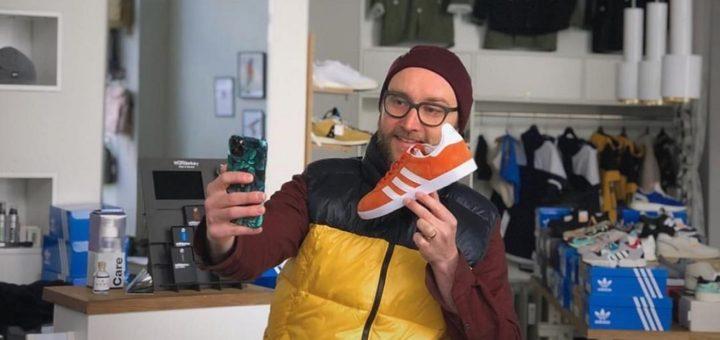 Stefan Schrader nutzt Shopparama für sein Sneaker-Geschäft Glückstreter im Viertel. Foto: pv