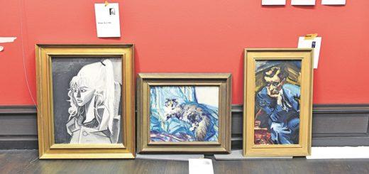 Meisterwerke in der Kunsthalle stehen auf dem Boden, um aufgehängt zu werden.. Foto: Schlie