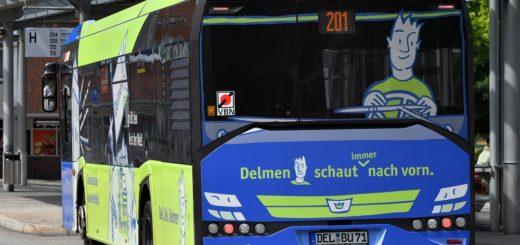 Die Busse der Delbus könnten als Imageträger für die Stadt dienen.Foto: Konczak