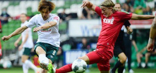 Zuletzt setzte er einige Glanzlichter: Werders Yuya Osako (links) Foto: Nordphoto