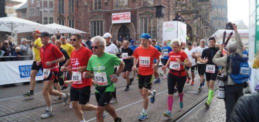 Am 4. Oktober soll am Bremer Roland der 16. SWB-Marathon gestartet werden. Foto: Lenssen