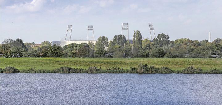 Baden mit Weserstadion-Blick: Der Werdersee ist der beliebteste Badesee der Stadt. Bei Instagram finden sich über 11.677 Erwähnungen mit #werdersee.Foto: Nicole Pankalla auf Pixabay