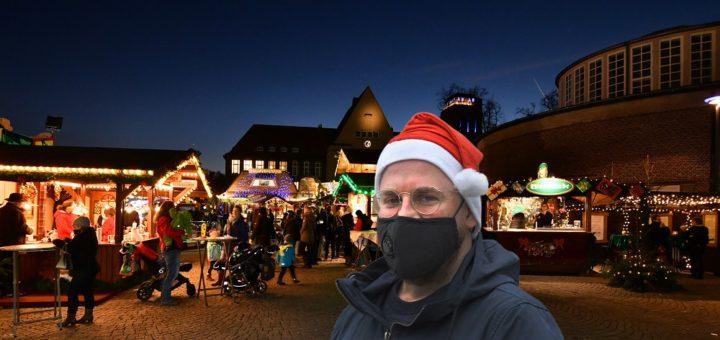 Die Mund-Nasen-Bedeckungen werden noch lange zum Alltag der Menschen gehören, voraussichtlich auch auf dem diesjährigen Weihnachtsmarkt in Delmenhorst.Foto: Konczak