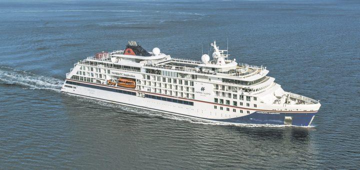 Die Hanseatic Inspiration nimmt im Oktober und November Kurs auf Bremen. Foto: Hapag-Lloyd Cruises/Tor Erik Kvalsvik