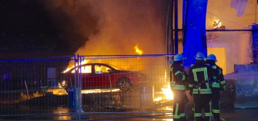 Am 24. September brannte ein Hallenkomplex auf dem sogenannten Möller-Gelände aus. Foto: Günther Richter