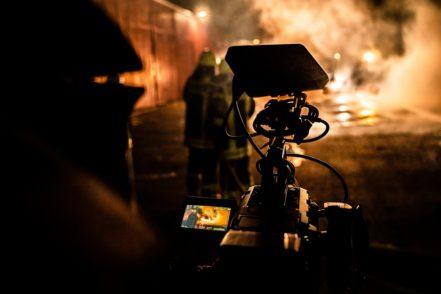Für den Imagefilm konnten Feuer, Rauch und Regen simuliert werden. Foto: FF Seehausen