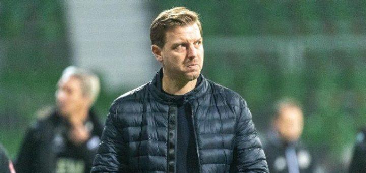 Will mit seiner Mannschaft in der Tabelle nicht unten rein rutschen: Werder-Coach Florian Kohfeldt Foto: Nordphoto