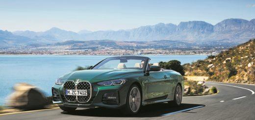 Schicker Münchener: Das neue BMW 4er Cabriolet fährt im Frühjahr mit Stoffverdeck vor.Foto: BMW