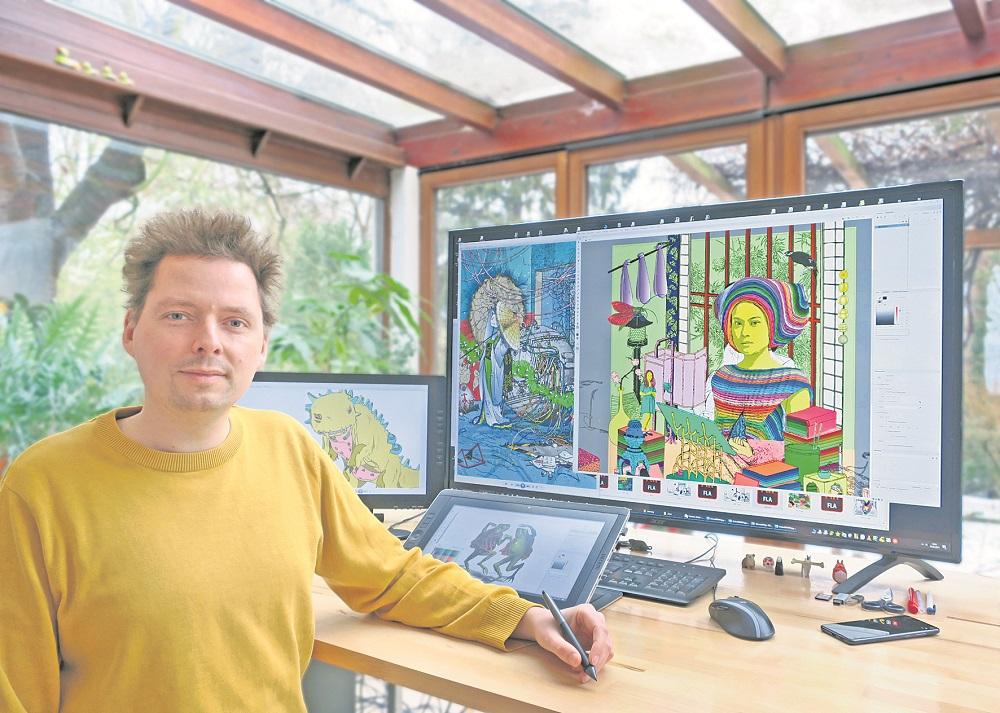 Johann Büsen im Atelier