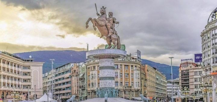 Der Macedonia Square ist der größte Platz Skopjes.Foto: Dimitris Vetsikas / Pixabay