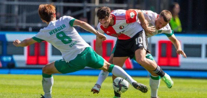 Internationale Gegner - so wie hier Feyenoord Rotterdam - hat Werder nur noch in den Testspielen. Nun geht es in Liga 2 gegen Hannover. Foto: Nordphoto