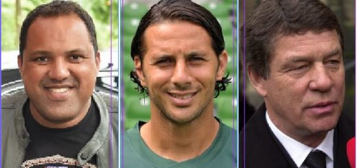 Patt an der Spitze: Ailton (v. l.), Claudio Pizarro und Otto Rehhagel landen mit der gleichen Anzahl an Leser-Vorschlägen auf den ersten Platz.Foto: WR