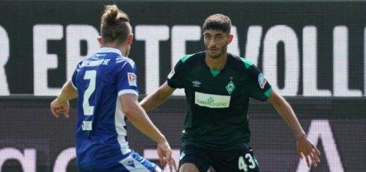 Werders Mannschaft steckt im Umbruch: Für Eren Dinkci (re.) und viele andere junge Spieler eröffnen sich da große Chancen. Foto: Nordphoto
