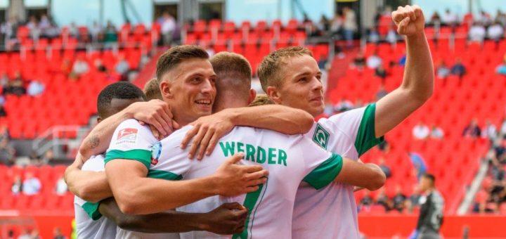 Viel zu bejubeln: Schon früh war gegen Ingolstadt die Vorentscheidung gefallen. Foto: Nordphoto